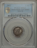 Netherlands East Indies, Netherlands East Indies: Batavian Republic. Holland 1/16 Gulden1802 MS63 PCGS,...