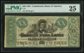 Confederate Notes:1861 Issues, T21 $20 1861 PF-5 Cr. 147.. ...