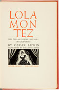 Books:Biography & Memoir, Oscar Lewis. SIGNED/LIMITED. Lola Montez: The Mid-Victorian BadGirl in California. San Francisco: The Colt Pres...