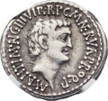 Ancients:Roman Republic, Ancients: Marc Antony as Triumvir (43-31 BC), with Lucius Antony. AR denarius (20mm, 3.49 gm, 12h)....