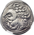 Ancients:Celtic, Ancients: EASTERN DANUBE. Imitating Philip II. Ca. 2nd-1stcenturies BC (27mm, 12.06 gm, 3h)....