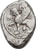 Ancients:Greek, Ancients: CYPRUS. Idalium. Circa 480-450 BC. AR stater (21 X 27mm,11.08 gm, 11h)....