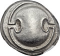 Ancients:Greek, Ancients: BOEOTIA. Thebes. Ca. 395-338 BC. AR stater (22mm, 12.12gm, 6h). ...