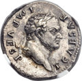 Ancients:Roman Imperial, Ancients: Titus, as Caesar (AD 69-79). AR denarius (19mm, 3.54 gm,56h). ...
