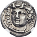 Ancients:Greek, Ancients: THESSALY. Larissa. Ca. 356-342 BC. AR drachm (20mm, 5.99gm, 11h)....
