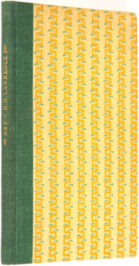 D. H. Lawrence. LIMITED. Bay: A Book of Poems. [Beaumont Press, 1919]