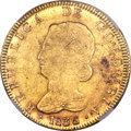 Colombia, Colombia: Republic gold 8 Escudos 1836 B-RS MS61 NGC,...