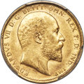 Australia, Australia: Edward VII gold Sovereign 1904-S MS63 PCGS,...