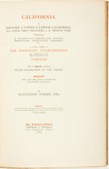 Books:Americana & American History, Thomas C. Russell (publisher). SIGNED/LIMITED. Alexander Forbes.California: A History of Upper & Lower California from...