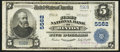 National Bank Notes:West Virginia, Hinton, WV - $5 1902 Plain Back Fr. 607 The First NB Ch. # 5562. ...