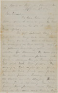 Militaria:Ephemera, [Battle of Second Bull Run]. Union Soldier's Letter by W. H. PowersDescribing the Battle. ...
