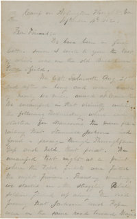 [Battle of Second Bull Run]. Union Soldier's Letter by W. H. Powers Describing the Battle