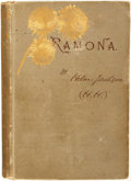 Books:Fiction, Helen Jackson. AUTOGRAPH LETTER SIGNED. Ramona. A Story.Boston: Roberts Brothers, 1884....
