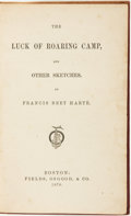 Books:Fiction, Francis Bret Harte. The Luck of Roaring Camp, and OtherSketches. Boston: Fields, Osgood, & Co., 1870....