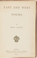 Books:Fiction, Bret Harte. SIGNED AUTOGRAPH LETTER. East and West Poems.Boston: James R. Osgood and Company, 1871....