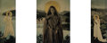 Photographs, France Scully Osterman (American, 20th Century). The Annunciation (triptych), 1999. Layered, tinted relievo ambrotype, w...