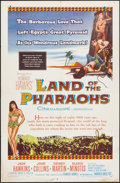 "Movie Posters:Drama, Land of the Pharaohs (Warner Brothers, 1955). One Sheet (27"" X 41""). Drama.. ..."