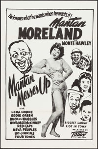 """Mantan Messes Up (Toddy Pictures, 1946). One Sheet (27"""" X 41"""") Flat Folded. Black Films"""