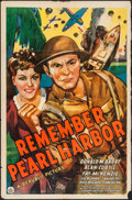 "Movie Posters:War, Remember Pearl Harbor (Republic, 1942). One Sheet (27"" X 41"").War.. ..."