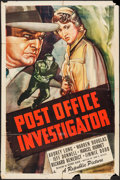 "Movie Posters:Crime, Post Office Investigator (Republic, 1949). One Sheet (27"" X 41"").Crime.. ..."