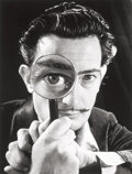 Photographs:Digital, Philippe Halsman (American, 1906-1979). Salvador Dalí withmagnifying glass, 1946. Digital pigment print, printed later...