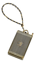 Estate Jewelry:Other , Art Deco Diamond, Black Onyx, Enamel, Gold Nécessaire, Cartier, NewYork. ...