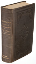 Books:Travels & Voyages, David Livingstone. Missionary Travels and Researches in SouthAfrica. New York: 1858. First U.S. edition....