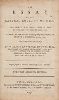 Books:Philosophy, William Lawrence Brown. An Essay on the Natural Equality of Men; on The Rights that Result from It, and on the Duties Wh...
