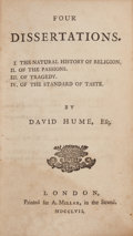 Books:Philosophy, David Hume. Four Dissertations. London: Printed for A.Millar, 1757....