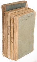Books:Americana & American History, [Americana]. Acts of Congress. Five Volumes in Original Wrappers.1802-1823.... (Total: 5 Items)