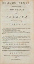 Books:Americana & American History, Thomas Paine. Common Sense; Addressed to the Inhabitants ofAmerica... A New Edition. London: Printed for H. D. ...