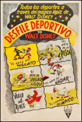 """Movie Posters:Animation, Walt Disney's Goofy in Desfile Deportivo (RKO, 1950s). Argentinean One Sheet (29"""" X 43.5""""). Animation.. ..."""