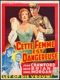 """Movie Posters:Drama, This Woman Is Dangerous (Warner Brothers, 1955). Belgian (13.75"""" X 18.75""""). Drama.. ..."""
