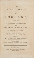 Books:World History, David Hume. The History of England. London: 1778. Eightvolumes [together with:] Essays and Treatises on Sev... (Total:10 Items)