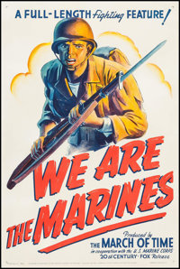 "We Are the Marines (20th Century Fox, 1942). One Sheet (27"" X 41""). War"