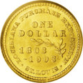 Commemorative Gold: , 1903 G$1 Louisiana Purchase/McKinley MS66 PCGS. A suitably struckand carefully preserved example with delightful, frosty l...