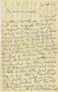 Basketball Collectibles:Others, 1918 James Naismith Handwritten Signed Letter with Signed Envelope.. Date: September 6, 1918.. Location: France.. Leng...