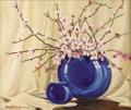Texas:Early Texas Art - Regionalists, DWIGHT HOLMES (1900-1986). Still Life Redbud. Oil on canvas.20in. x 24in.. Signed lower left. Signed verso. A Dwight ...