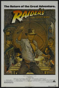 "Movie Posters:Adventure, Raiders of the Lost Ark (Paramount, R-1982). One Sheet (27"" X 41"").Adventure. Starring Harrison Ford, Karen Allen, Denholm ..."