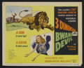 "Movie Posters:Adventure, Bwana Devil (United Artists, 1953). Title Lobby Card (11"" X 14"").Adventure. Starring Robert Stack, Barbara Britton, Nigel B..."
