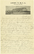 Basketball Collectibles:Others, 1916 James Naismith Handwritten Signed Letter with SignedEnvelope.. Date: September 18, 1916.. Location: San Antonio, T...