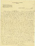 Basketball Collectibles:Others, 1916 James Naismith Handwritten Signed Letter with SignedEnvelope.. Date: July 30, 1916.. Location: Eagle Pass, Texas....