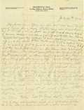 Basketball Collectibles:Others, 1916 James Naismith Handwritten Signed Letter with SignedEnvelope.. Date:July 29, 1916.. Location: El Paso, Texas.. L...