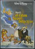 "Movie Posters:Animated, The Great Mouse Detective (Buena Vista, 1986). Spanish Language One Sheet (27.5"" X 39""). Animated. Starring the voices of Vi..."