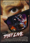"Movie Posters:Science Fiction, They Live (MCA/Universal, 1988). One Sheet (27"" X 41""). Science Fiction. Starring Roddy Piper, Keith David, Meg Foster and R..."
