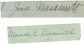 "Basketball Collectibles:Others, James Naismith & Wife Signed Cut Signatures from Checks..Variations: ""Jas. Naismith"" & ""Maude E. Naismith."". Medium:Pe..."