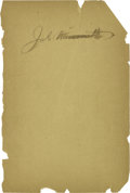 """Basketball Collectibles:Others, James Naismith Signed Book Page. Blank page removed from bookpresents """"Jas. Naismith"""" signature variation. Black fountain..."""