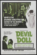"""Movie Posters:Horror, Devil Doll (Associated Film Distributors, 1964). One Sheet (27"""" X41""""). Horror. Starring Bryant Haliday, William Sylvester, ..."""