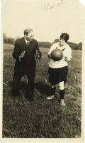 Basketball Collectibles:Others, 1920's James Naismith Coaching Female Basketball Player Photograph.The father of the game instructs a young woman about th...