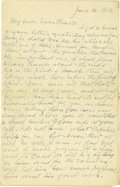 Basketball Collectibles:Others, 1919 James Naismith Handwritten Signed Letter.. Date: January 14,1919.. Location: France.. Length in pages: Four.. ...